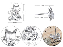 Load image into Gallery viewer, Colored Super Happy Kitten Charm Element Earrings