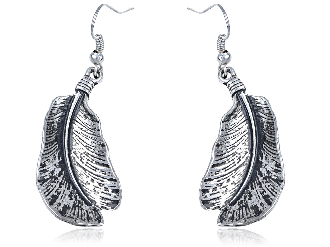 Genuine Encrusted Parrot Bird Dangling Body Earrings