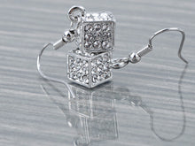 Load image into Gallery viewer, Petite Novelty Mini Elements Cube Box Trendy Earrings
