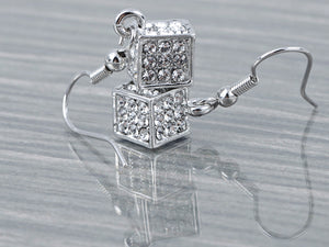 Petite Novelty Mini Elements Cube Box Trendy Earrings