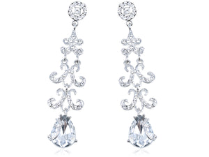 Elements Bridal Collection Trendy Chandelier Statement Drop Earrings