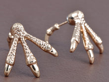Load image into Gallery viewer, Bird Feet Delight Talon Studded Prehistoric Magic Time Earrings