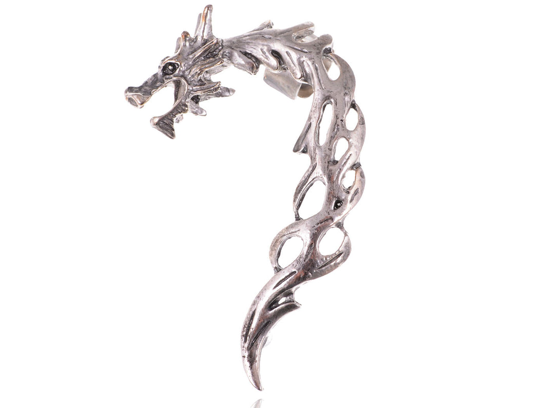Dragon Fury Battleground Shimmering Finish Flame Esque Earring Cuff