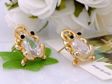 Load image into Gallery viewer, Mini Lucky Fortune Symbol Bodied Asian Frog Button Earrings