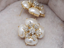 Load image into Gallery viewer, Royal Pearl White Accented Earrings