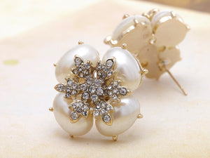 Royal Pearl White Accented Earrings