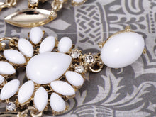 Load image into Gallery viewer, Royal Chalky White Bead White Earrings
