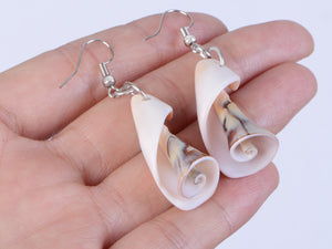 Multicolor Accent Ocean Seashell Couch Mermaid Sea Witch Drop Dangle Earrings