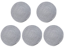 Load image into Gallery viewer, Cotton Woven Braided Round Coasters Set of 5
