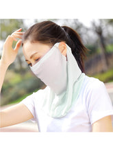 Load image into Gallery viewer, Women Floral Print Ice Silk Sun Proof Neck Gaiter Face Mask Scarf Balaclava Bandana