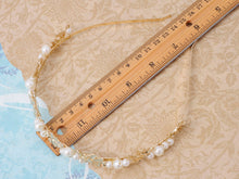 Load image into Gallery viewer, Royal Princess Tiara Tiny Flower Flawless Pearl Headband