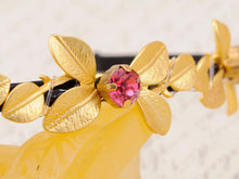 Load image into Gallery viewer, Festive Princess Pink Accented Yellow Flower Hair Piece Headband