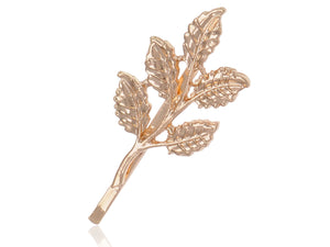 Bohemian Petit Realistic Leaves Twig Autumn Decorative Hair Clip Pin