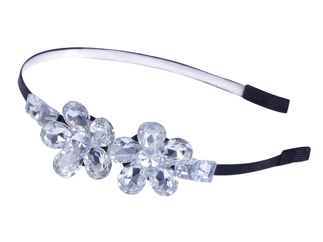 Decorative Vintage Diamond Jeweled Butterfly Hair Piece Headband ()
