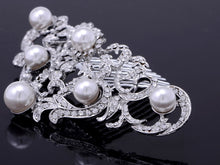 Load image into Gallery viewer, Ornate Filigree Swirl Simulated Pearl Bridal Hair Comb
