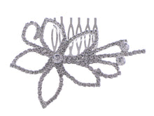 Load image into Gallery viewer, Flower Bridal Hair Comb