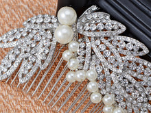 Load image into Gallery viewer, Pearl Silver Leaves Bridal Hair Comb