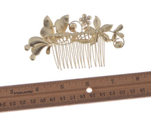 Load image into Gallery viewer, Flower Leaf Bridal Hair Comb