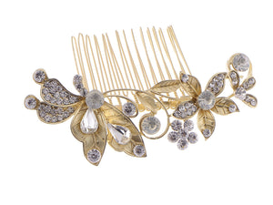 Flower Leaf Bridal Hair Comb