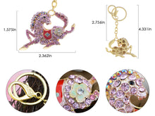 Load image into Gallery viewer, Sparkling Horse Key Chains For Women Girls Gifts Car Purse Animal Pendant Charms??Pink???