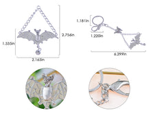 Load image into Gallery viewer, Enamel Wing Bat Butterfly Fly Clip Hook Key Chain