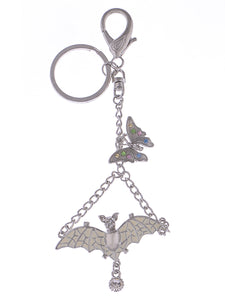Enamel Wing Bat Butterfly Fly Clip Hook Key Chain