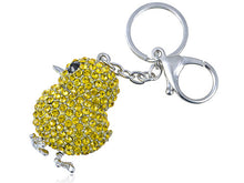 Load image into Gallery viewer, Canary Yellow Chicken Chick Peep Bird Easter Key Chain