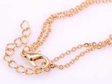 Load image into Gallery viewer, D Chain Link Style Necklace With Double Chains And Locking Closure
