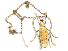 Load image into Gallery viewer, Topaz Beetle Bug Necklace Pendant