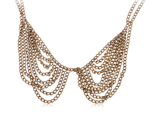 Multi Layer Collar Style Chain Chunky Pendent Necklace