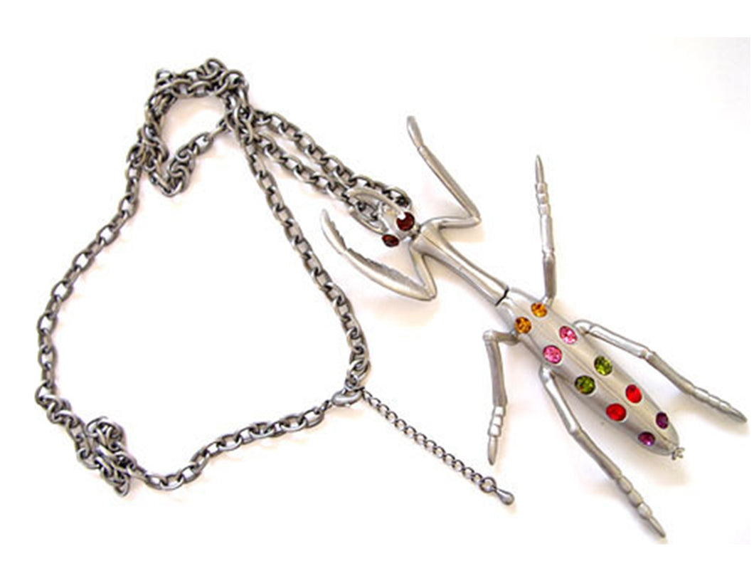 Stainless Steel Butterfly Earring Set Necklace Pendant