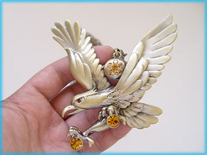 Hunting Hawk Flying Eagle Pendant D Freedom Necklace