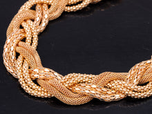 Load image into Gallery viewer, Braided Necklace With Six Intertwined Chains And Multiple Finishes