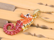 Load image into Gallery viewer, Multicolored Colorful Seahorse Pendant Necklace