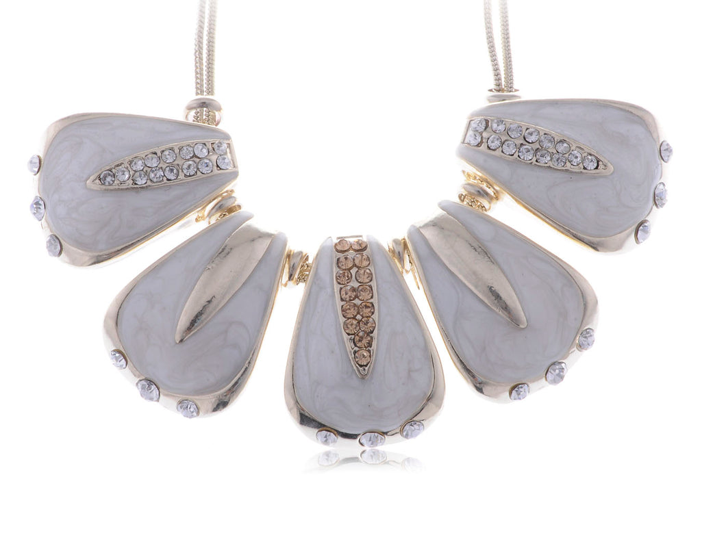 Shell Like Petal Dangling Necklace