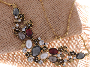 Antique Pearl Gemss Necklace