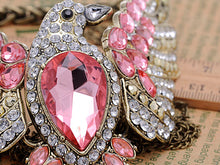 Load image into Gallery viewer, Pink Flying Eagle Cascading Strands Necklace