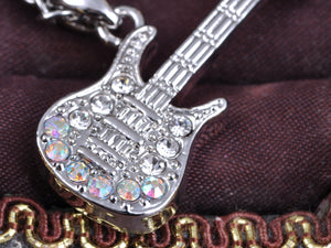 Petite Rock Star Electric Guitar Ab Pendant Necklace