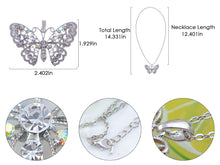 Load image into Gallery viewer, Filigree Princess Lace Winged Butterfly Ab Pendant Necklace
