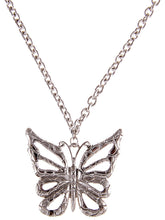 Load image into Gallery viewer, Butterfly Statement Silver Chain Necklace Pendant