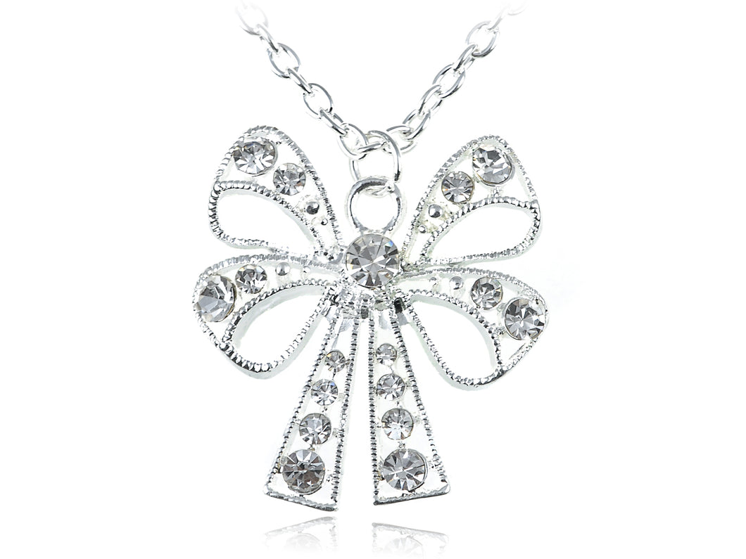 Ribbon Bow Tie Able Necklace Pendant