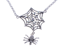 Load image into Gallery viewer, Spider Lily Web Pendant Necklace Gun Ab