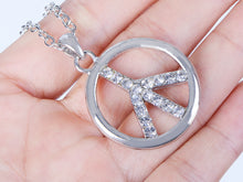 Load image into Gallery viewer, Able Peace Sign Retro Necklace