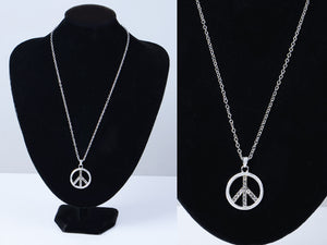 Able Peace Sign Retro Necklace