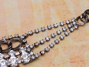 Diamond D Chain Style Necklace With Locking Clasp