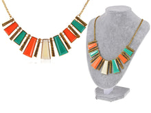 Load image into Gallery viewer, Tribal Abstract Shapes Statement Collar Necklace
