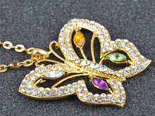 Load image into Gallery viewer, Color Glam Colorful Butterfly Pendant Necklace