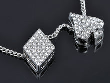 Load image into Gallery viewer, Vegas 4 Suits Gamblers Luck Lucky Casino Pendant Necklace