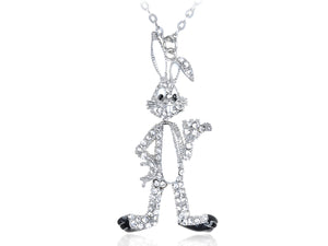 Hare Rabbit Bunny Repa Animal Pendant Necklace