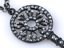Load image into Gallery viewer, Gun Dark Color Lock Key Pendant Necklace